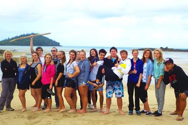 Mackay and Whitsunday students at the marine classroom